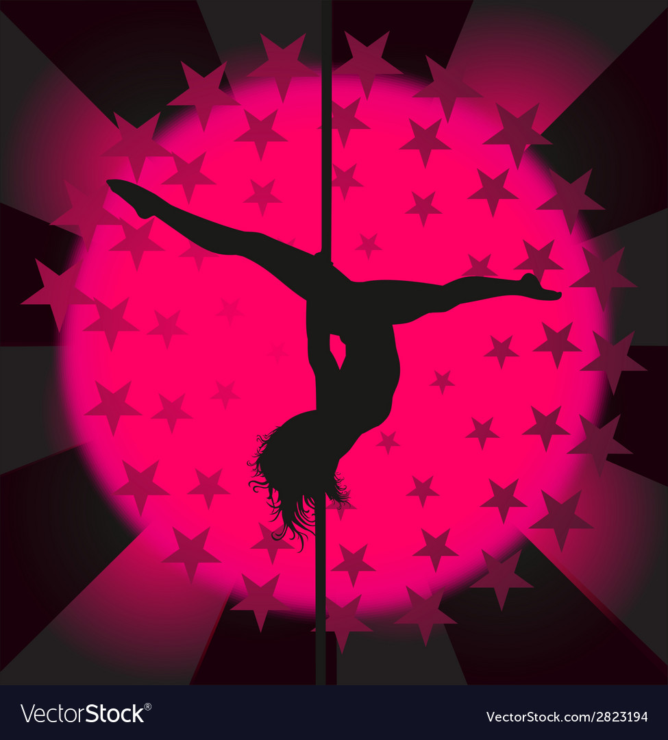 Sexy pole dancer - vector | Price: 1 Credit (USD $1)
