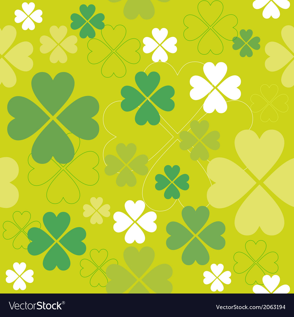 Shamrock seamless pattern clover backdrop vector | Price: 1 Credit (USD $1)