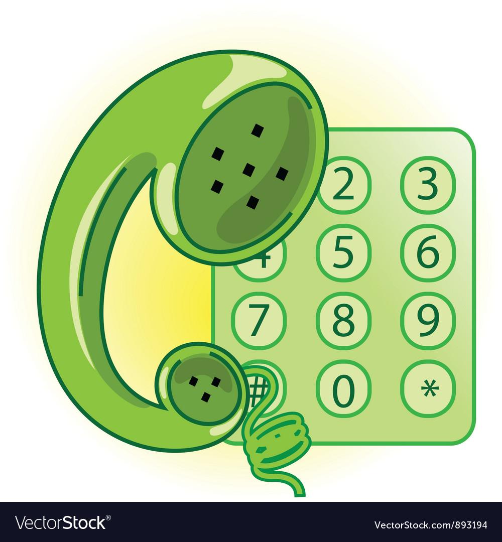 Telephone receiver vector | Price: 1 Credit (USD $1)