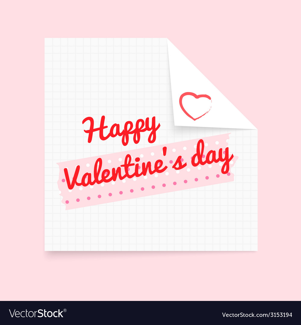 Valentine note vector | Price: 1 Credit (USD $1)