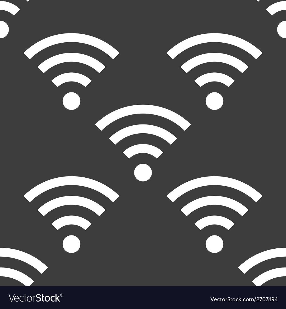Wi-fi web icon flat design seamless gray pattern vector | Price: 1 Credit (USD $1)