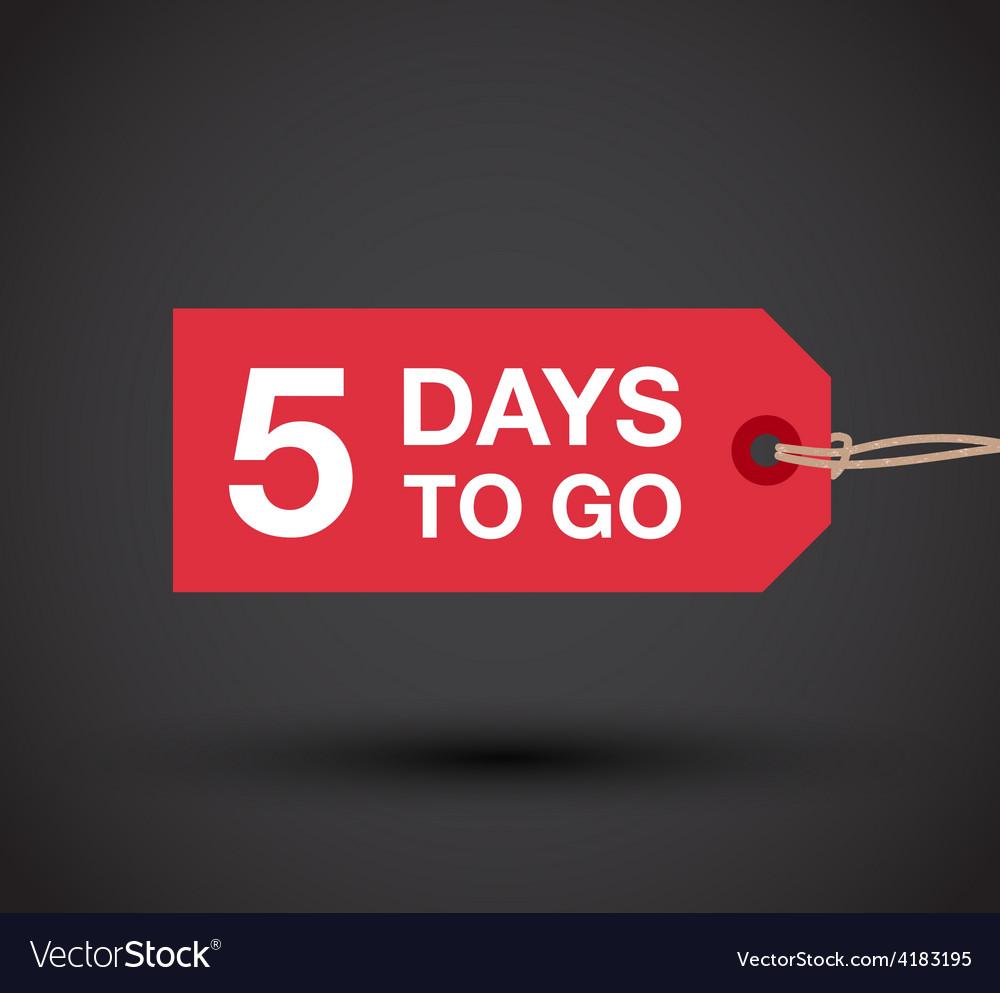 5 days left sale vector | Price: 1 Credit (USD $1)
