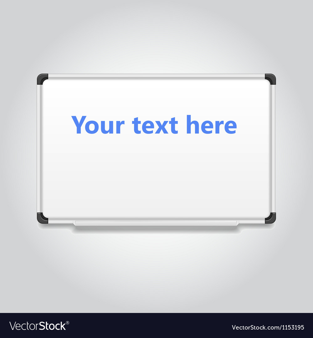 Blank white board vector | Price: 1 Credit (USD $1)