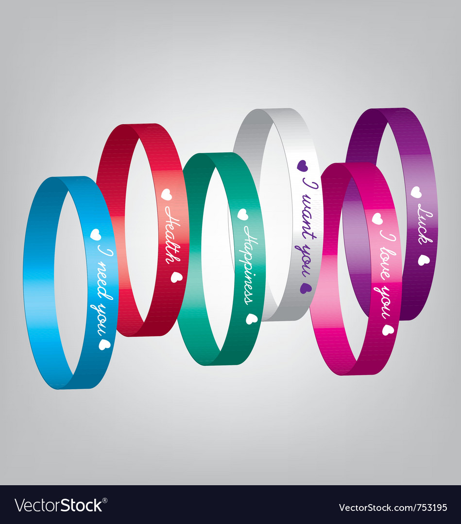 Bracelets color vector | Price: 1 Credit (USD $1)