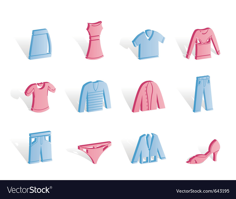 Clothing internet icons vector | Price: 1 Credit (USD $1)