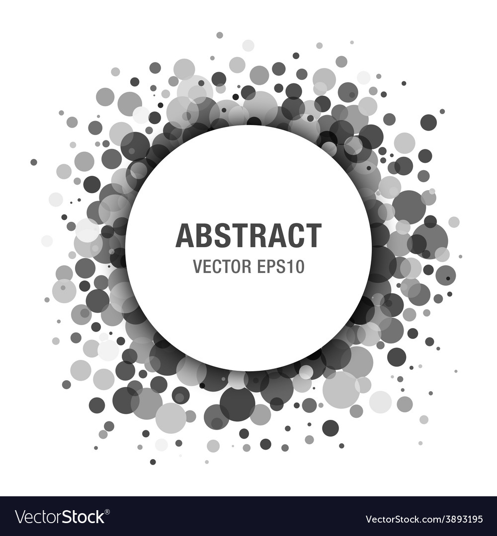 Gray abstract circle frame design element vector | Price: 1 Credit (USD $1)
