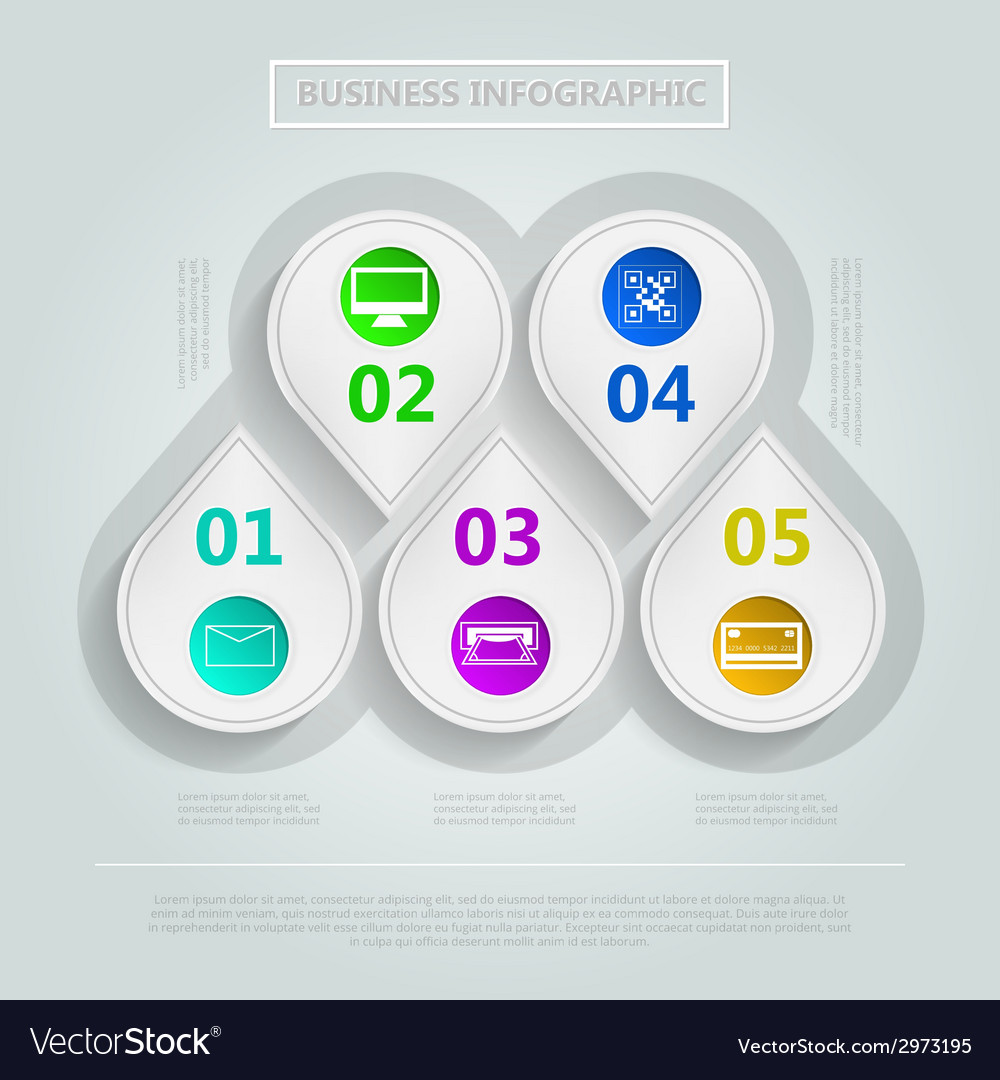 Infographic for e-business vector | Price: 1 Credit (USD $1)