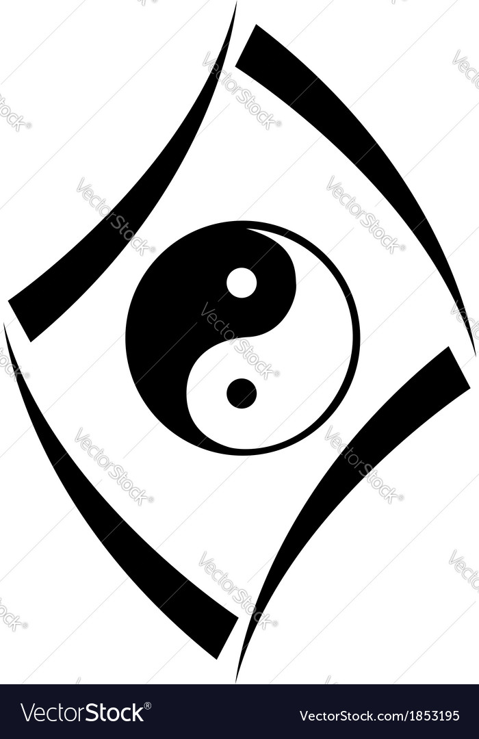 Logo concept with yin and yang symbol vector | Price: 1 Credit (USD $1)