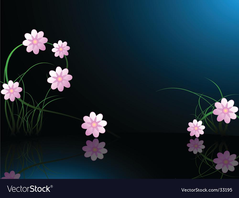 Midnight flower background vector | Price: 1 Credit (USD $1)