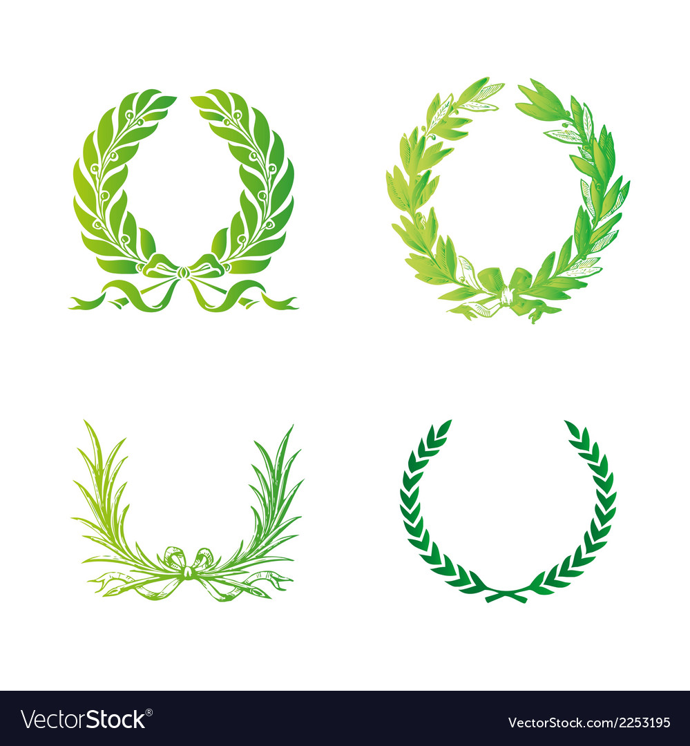 Ornate wreath set vector | Price: 1 Credit (USD $1)
