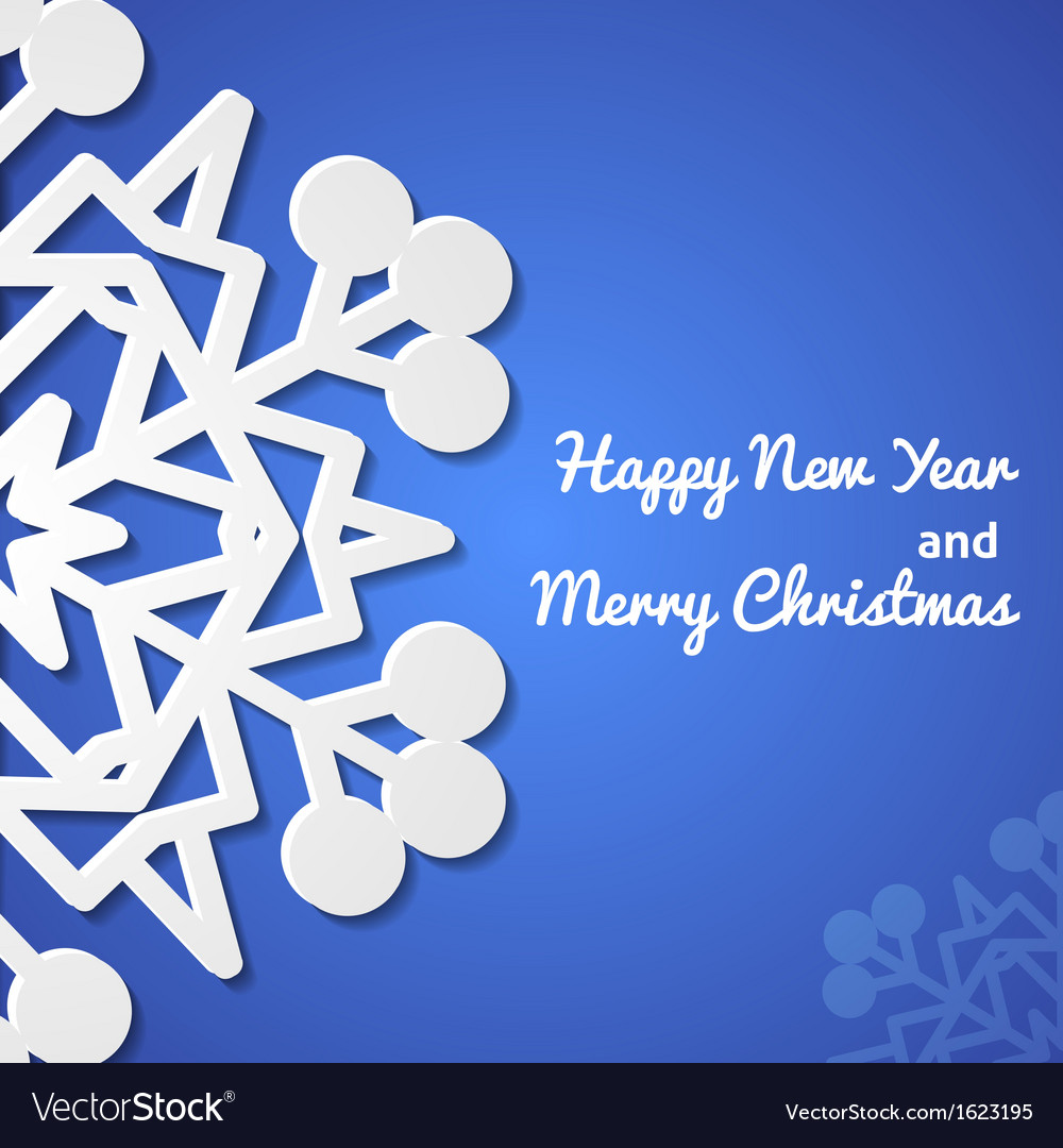 Paper christmas snowflake card vector | Price: 1 Credit (USD $1)