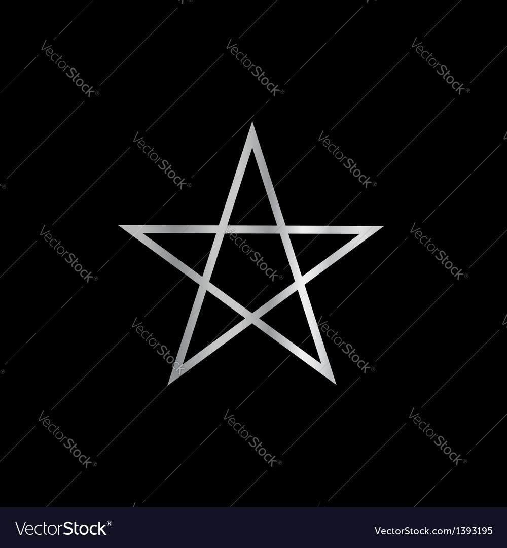 Pentagram- religious symbol of satanism vector | Price: 1 Credit (USD $1)