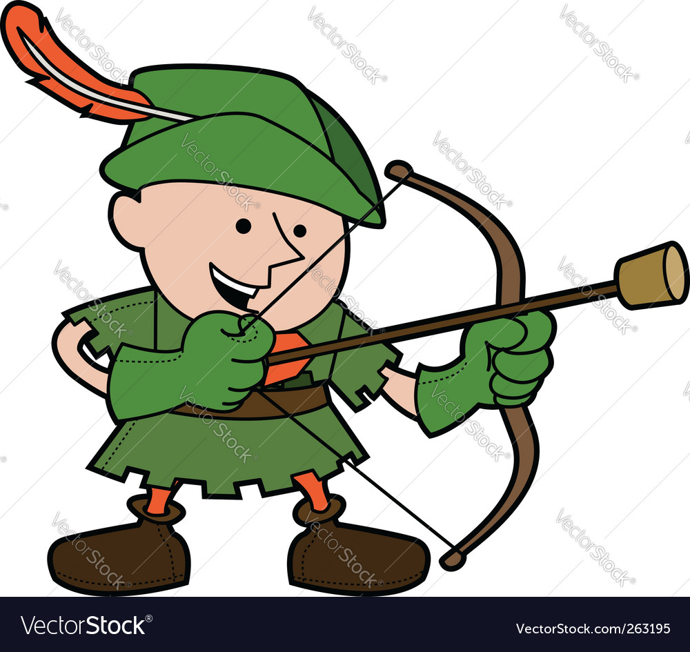 Robin hood illustration vector | Price: 1 Credit (USD $1)