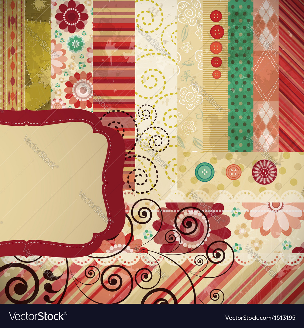 Scrapbook background vector | Price: 3 Credit (USD $3)