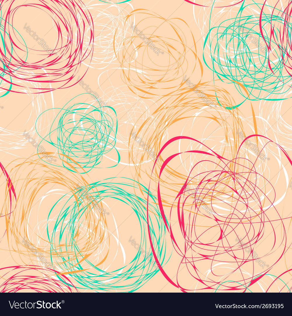 Seamless pattern with abstract funny scribbles vector | Price: 1 Credit (USD $1)