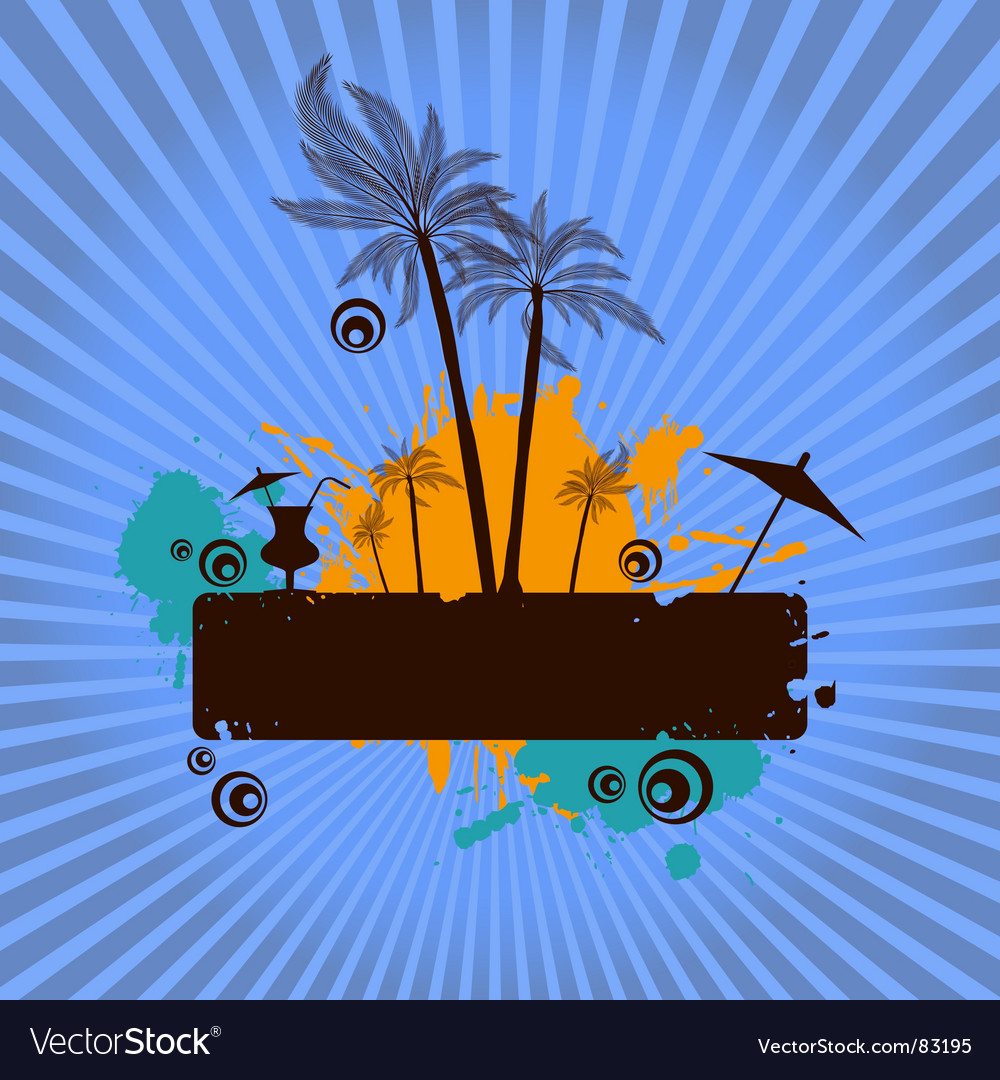 Tropical poster vector | Price: 1 Credit (USD $1)