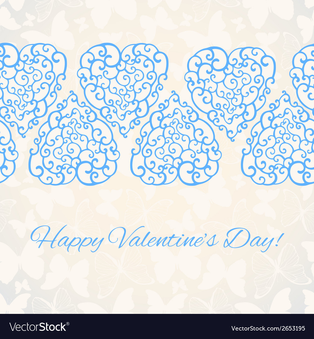 Valentines day romantic background template for vector | Price: 1 Credit (USD $1)