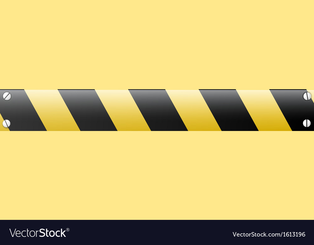 Abstract black and yellow restrictive barrier vector | Price: 1 Credit (USD $1)