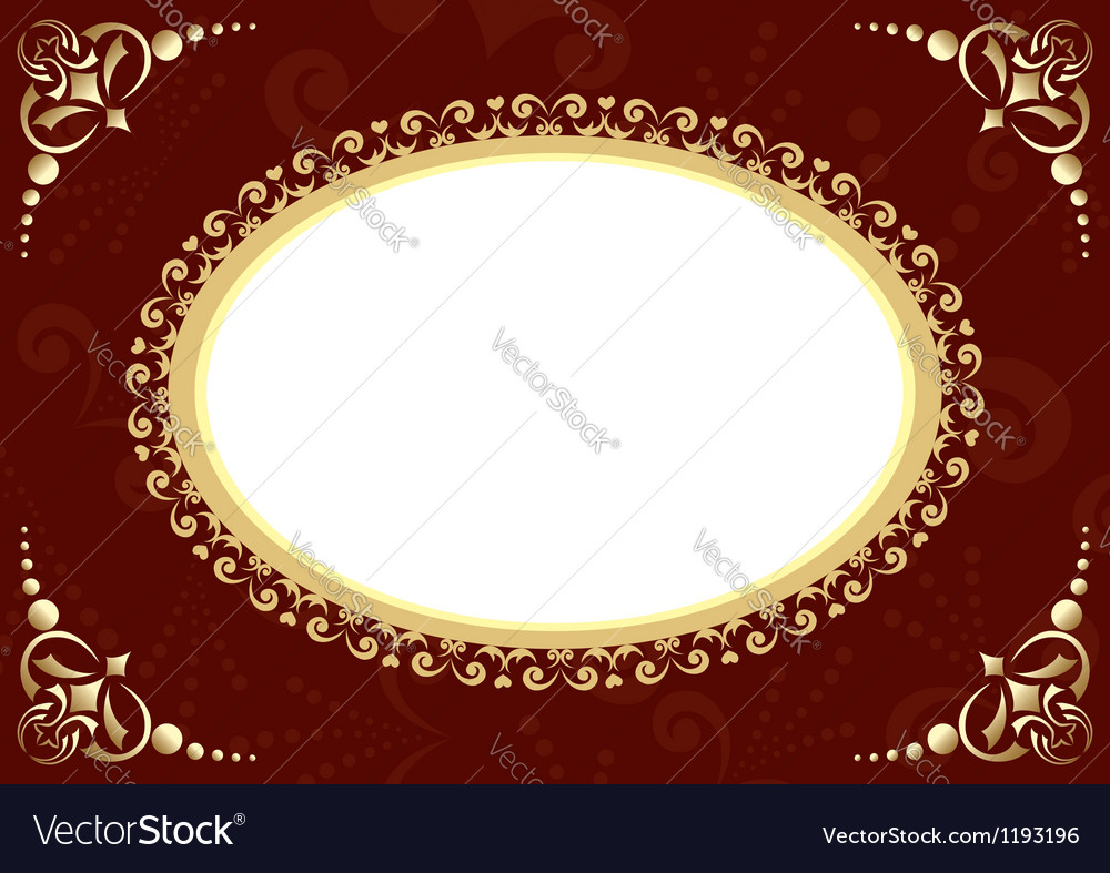 Brown card with oval and patter vector | Price: 1 Credit (USD $1)