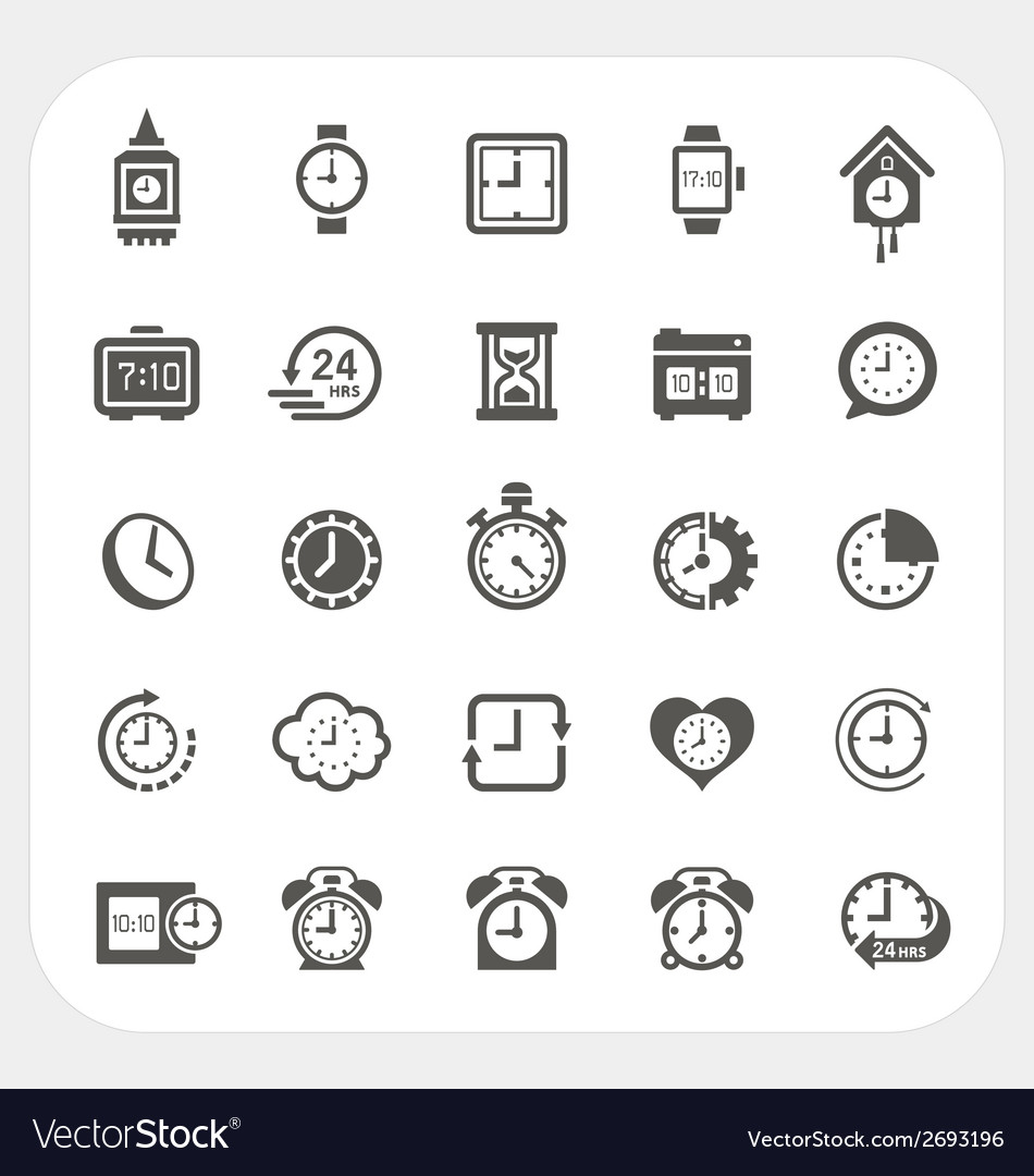 Clock icons set vector | Price: 1 Credit (USD $1)