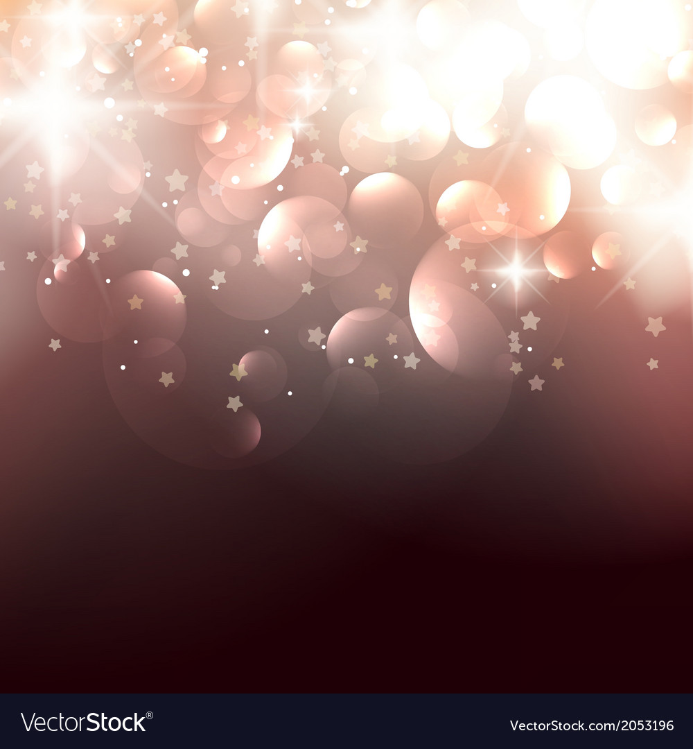 Elegant christmas background with golden stars vector | Price: 1 Credit (USD $1)