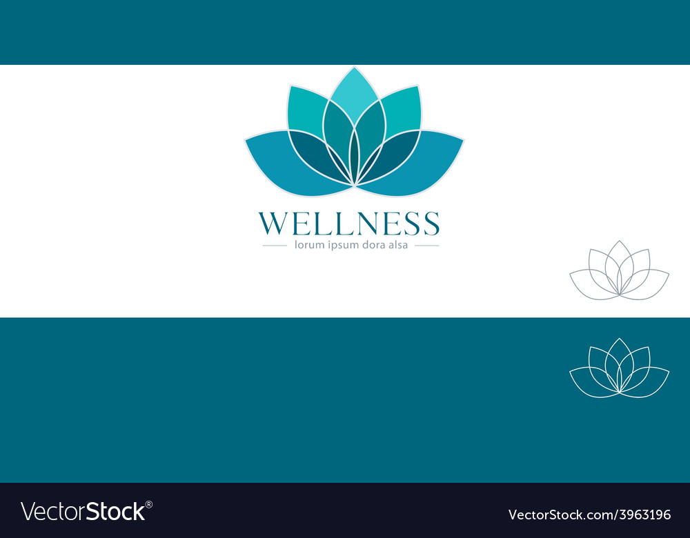 Lotus flower yoga wellness concept design element vector | Price: 1 Credit (USD $1)