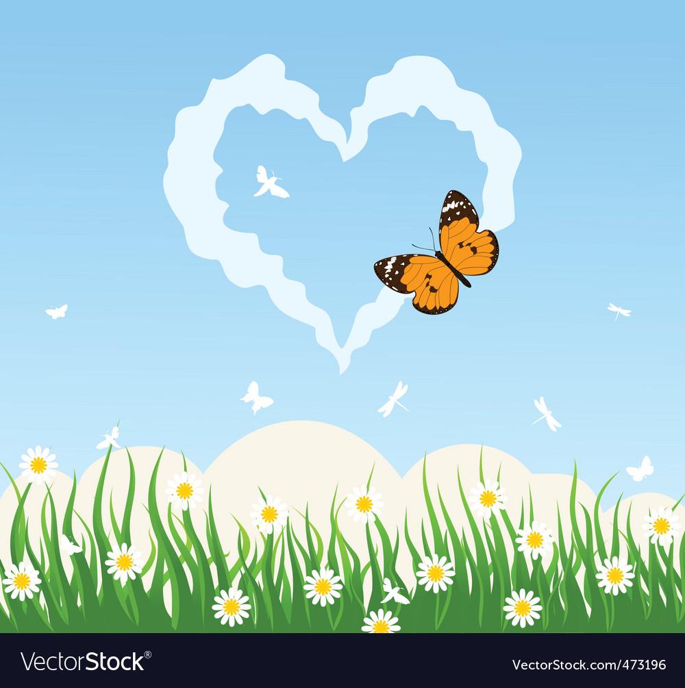 Love cloud vector | Price: 1 Credit (USD $1)