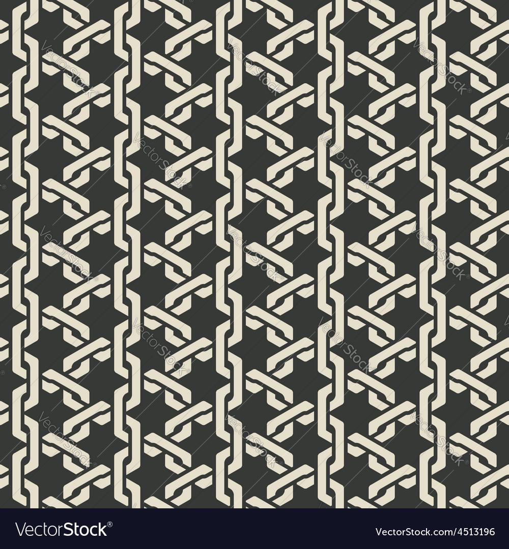 Monochrome mesh chain seamless pattern vector   Price: 1 Credit (USD $1)