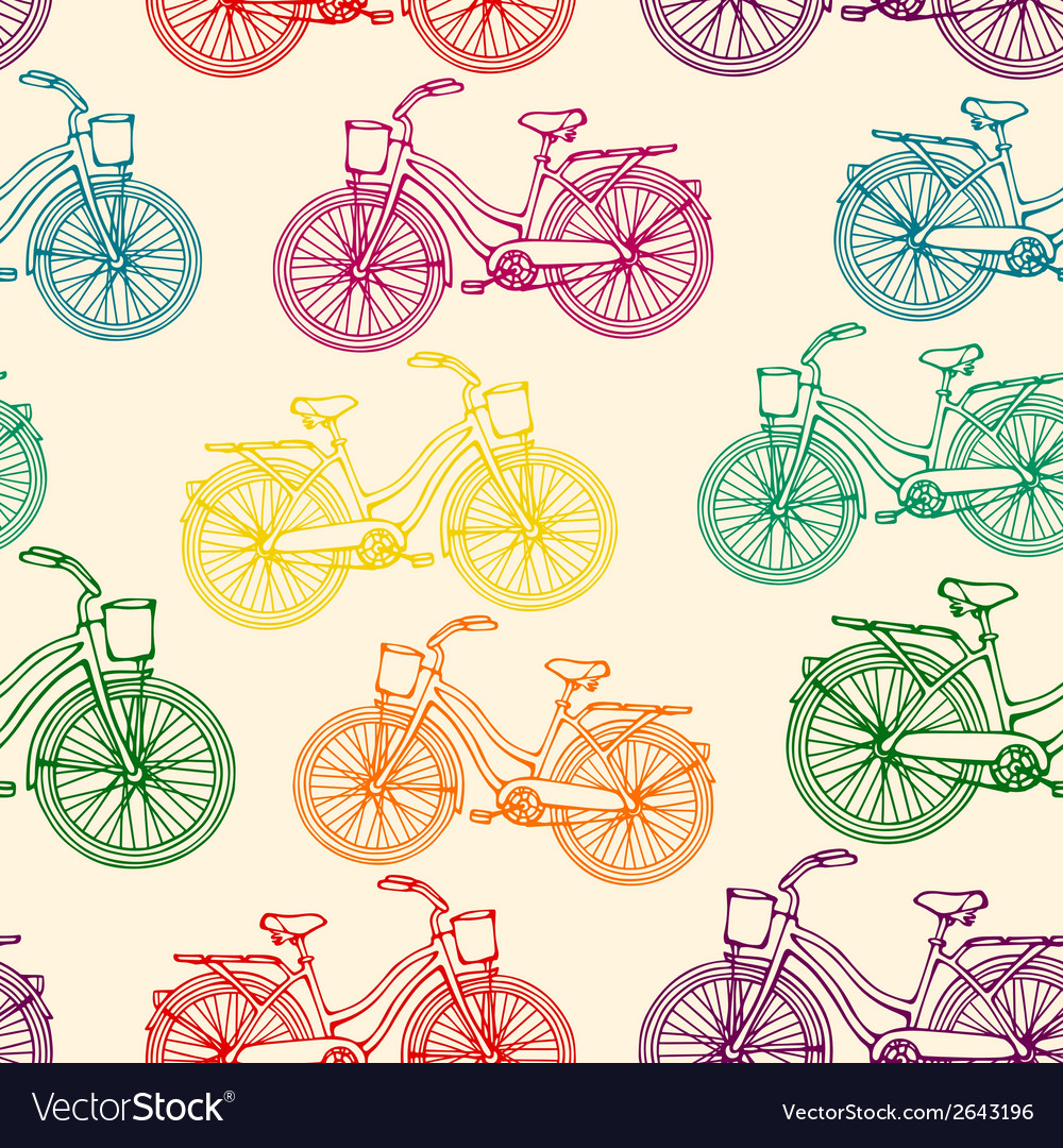 Seamless pattern with outline colorful rainbow vector | Price: 1 Credit (USD $1)