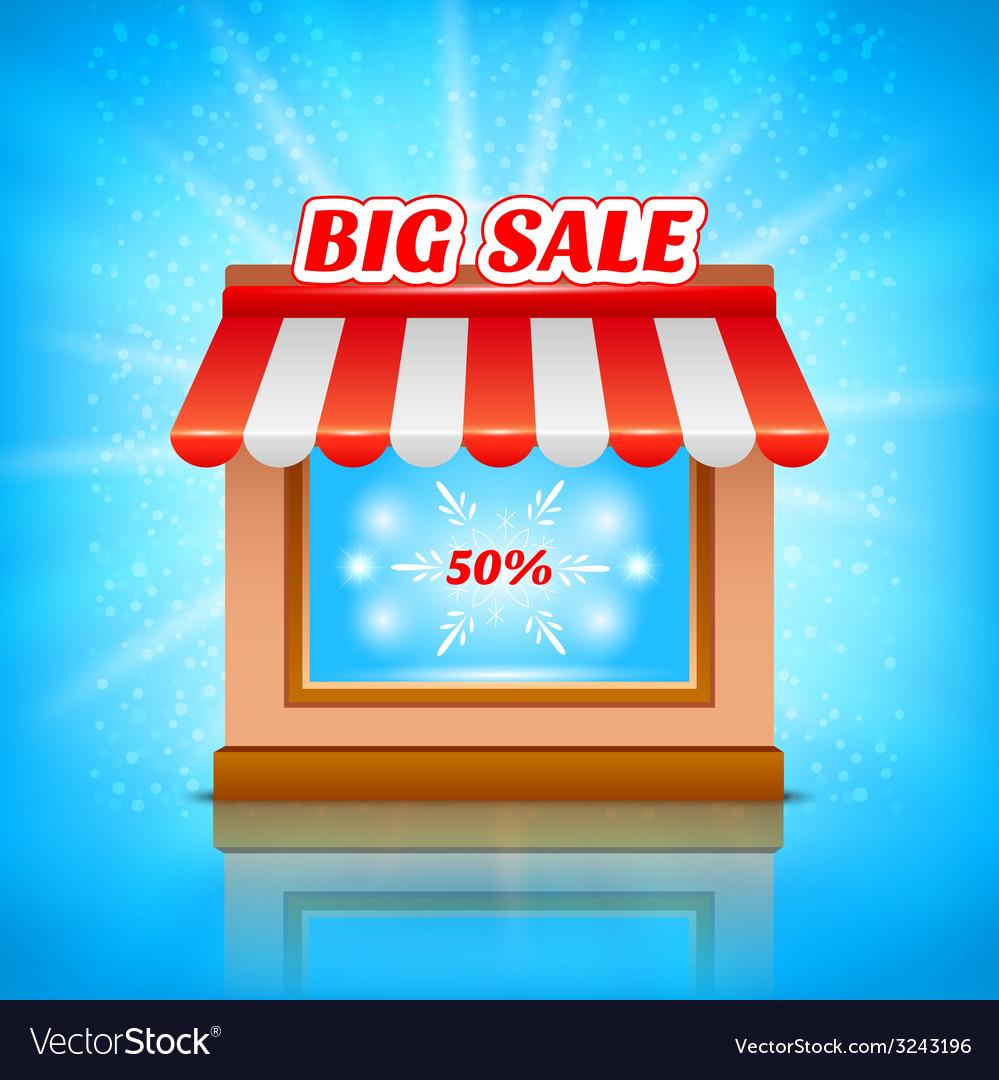 Shop icon big sale vector | Price: 1 Credit (USD $1)