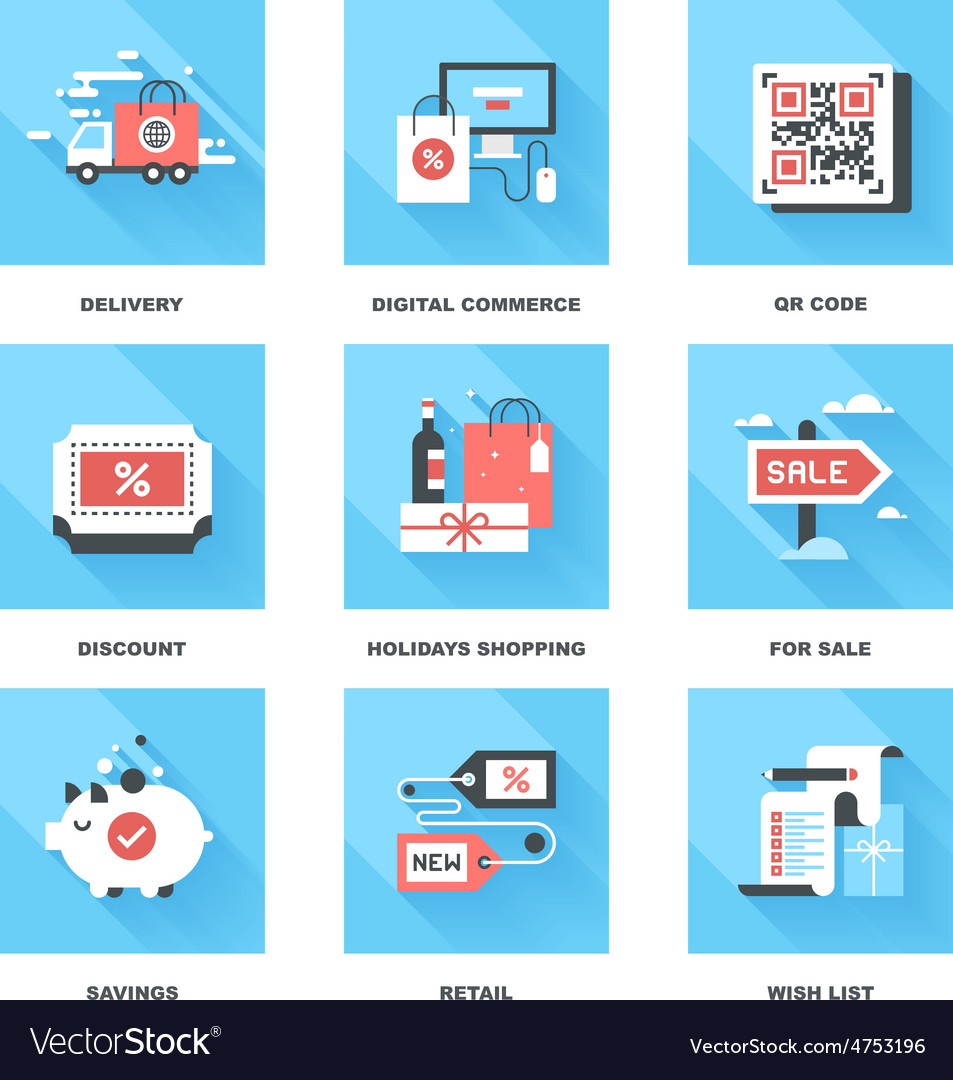 Shopping and commerce vector | Price: 1 Credit (USD $1)