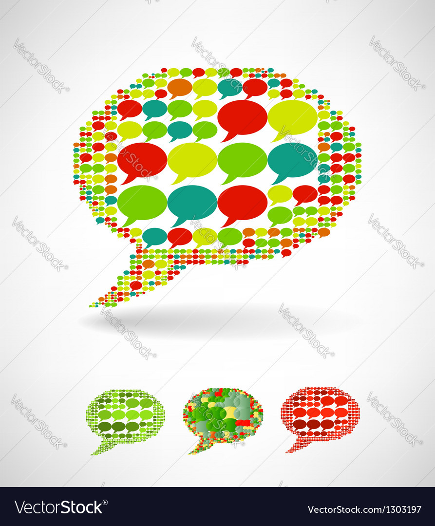 Big speech bubble made from small bubbles vector | Price: 1 Credit (USD $1)