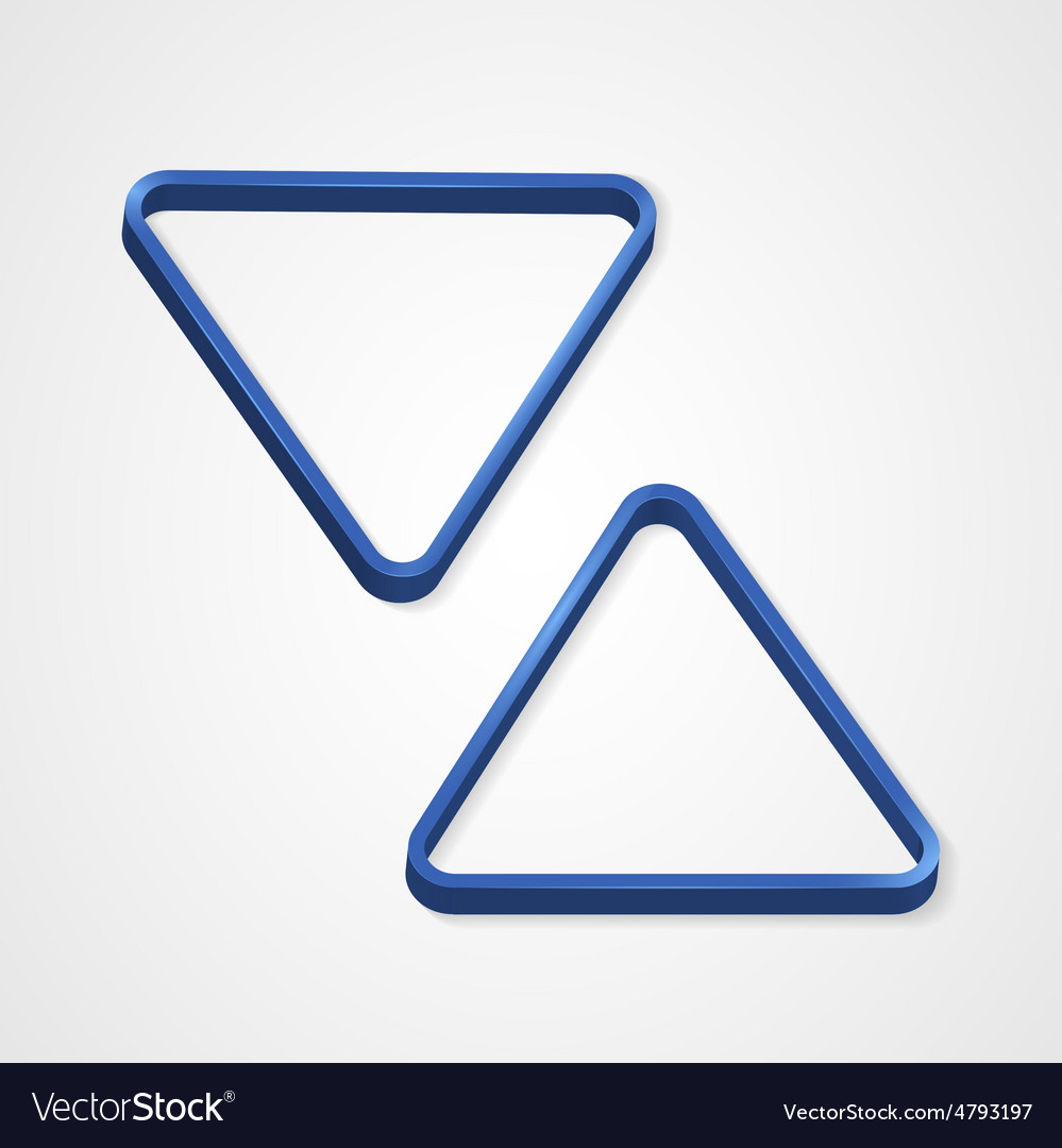 Blue billiard triangle on a white background vector