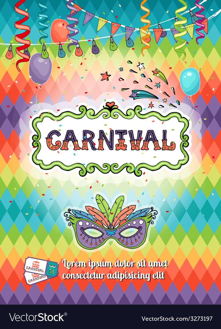 Carnival poster vector | Price: 1 Credit (USD $1)