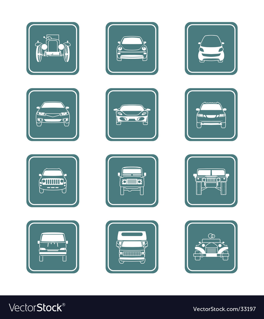 Cars icon-set vector | Price: 1 Credit (USD $1)
