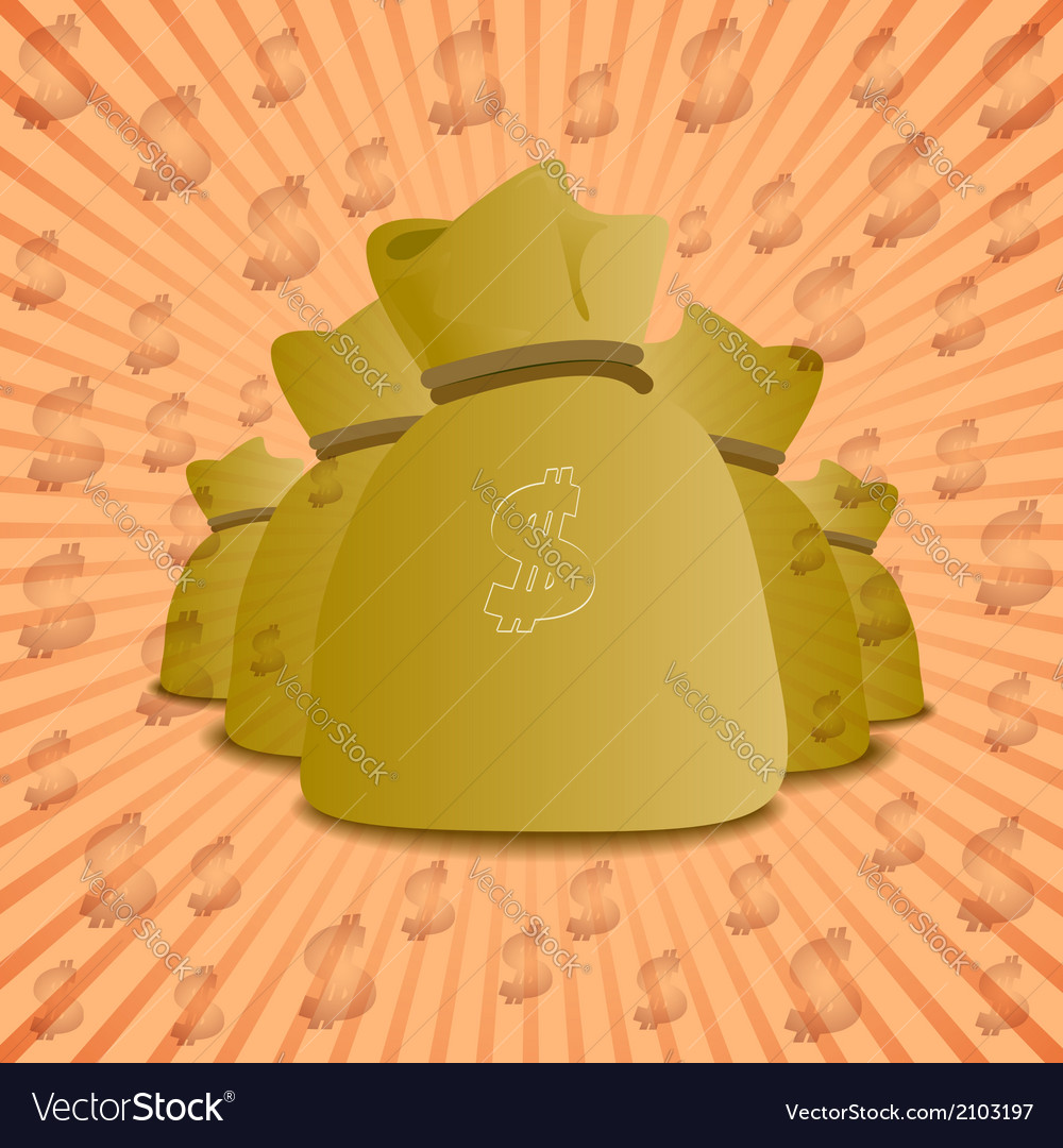 Gold bags of money vector | Price: 1 Credit (USD $1)