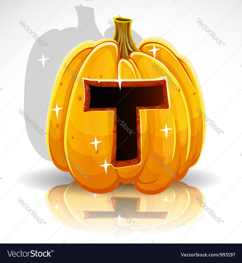 Halloween pumpkin t vector | Price: 1 Credit (USD $1)