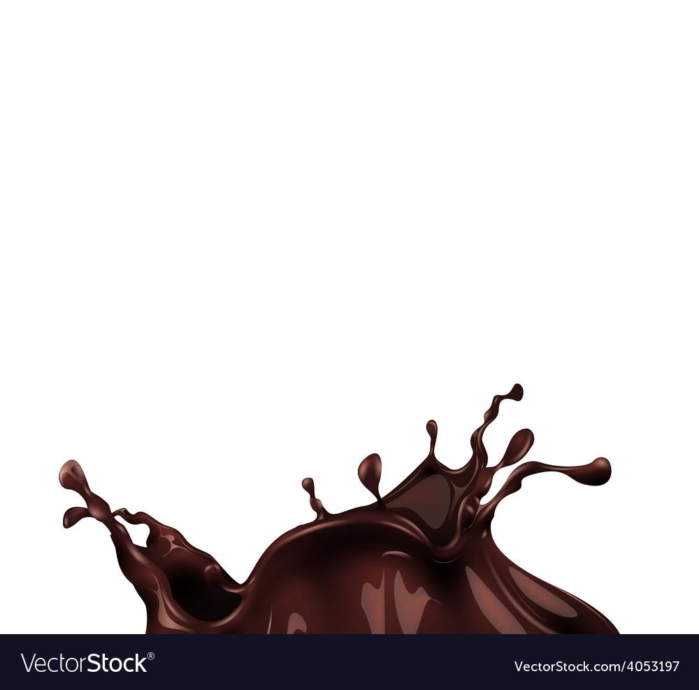 Hot chocolate splash vector | Price: 1 Credit (USD $1)