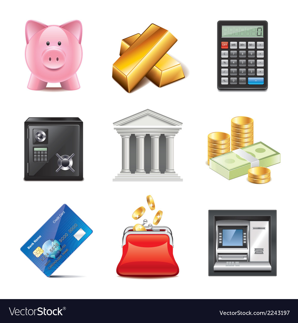 Set bank vector | Price: 1 Credit (USD $1)