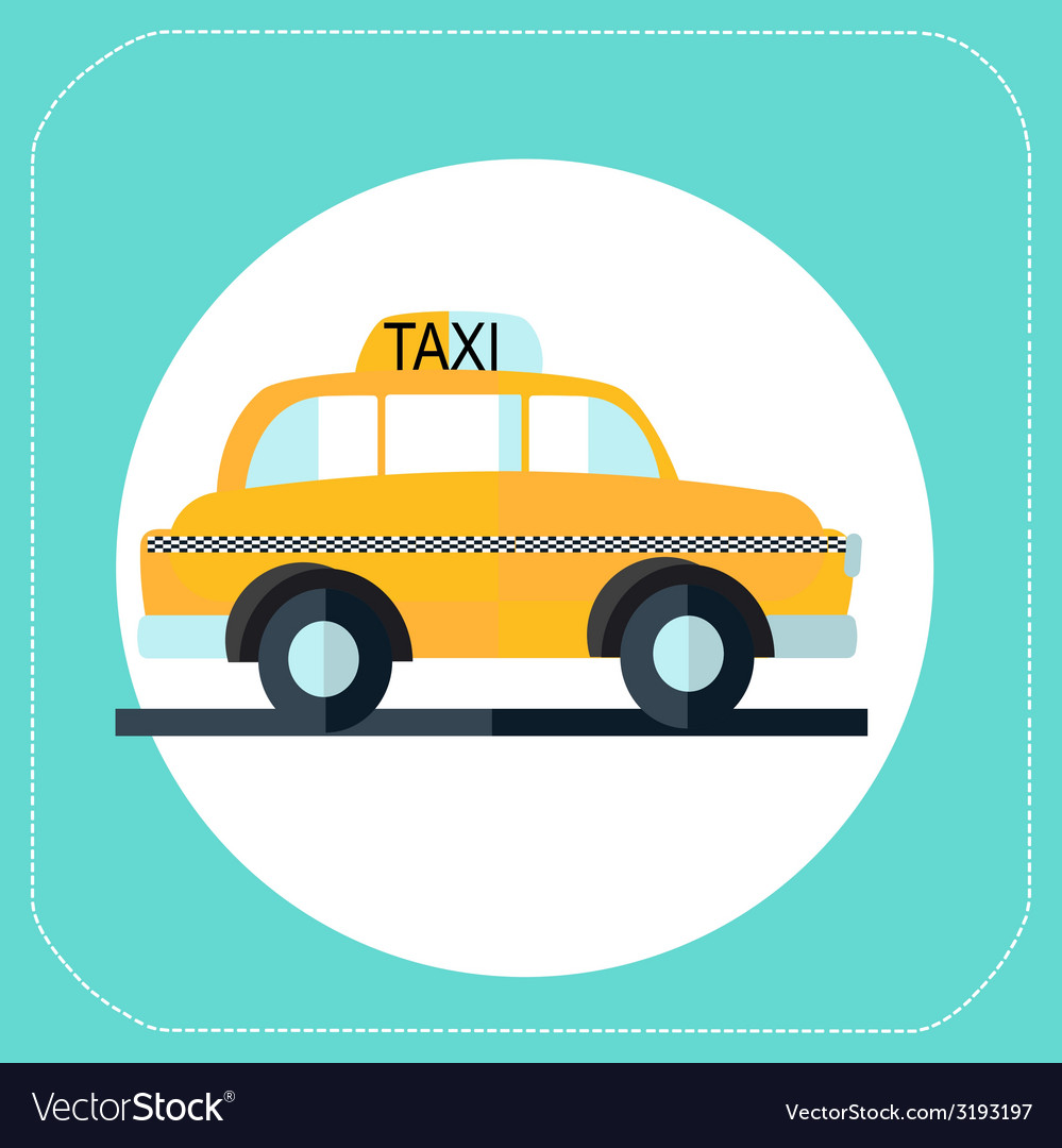 Taxi flat icon vector | Price: 1 Credit (USD $1)