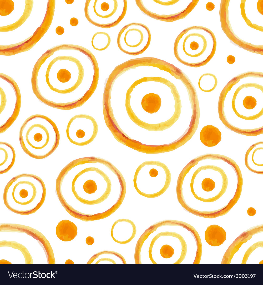 Watercolor circles seamless pattern vector | Price: 1 Credit (USD $1)