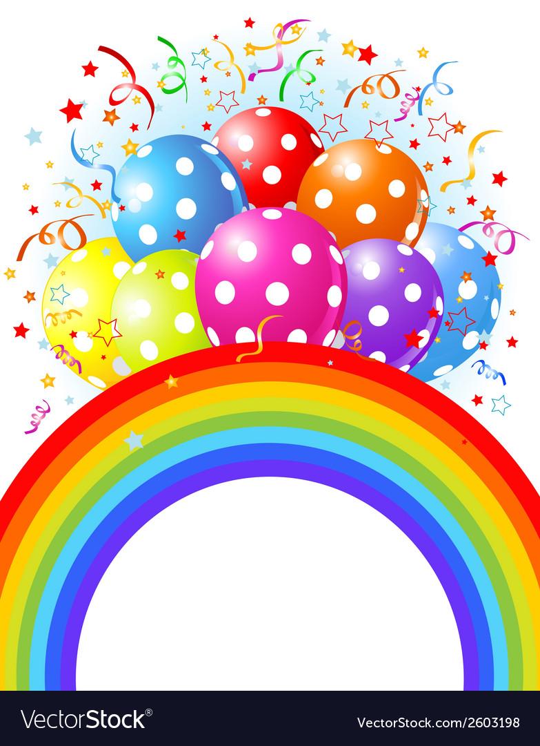 14balloons rainbow001 vector | Price: 1 Credit (USD $1)