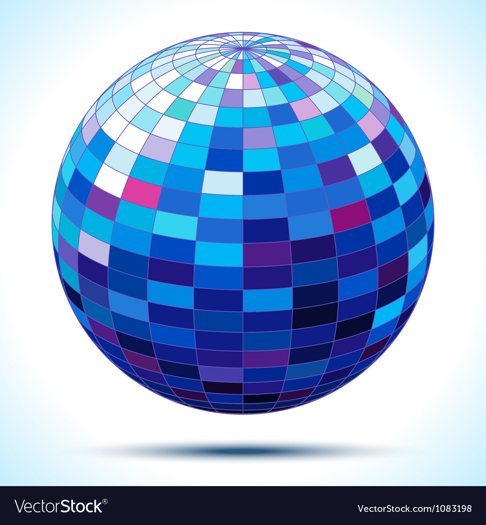 Abstract 3d blue sphere vector | Price: 1 Credit (USD $1)