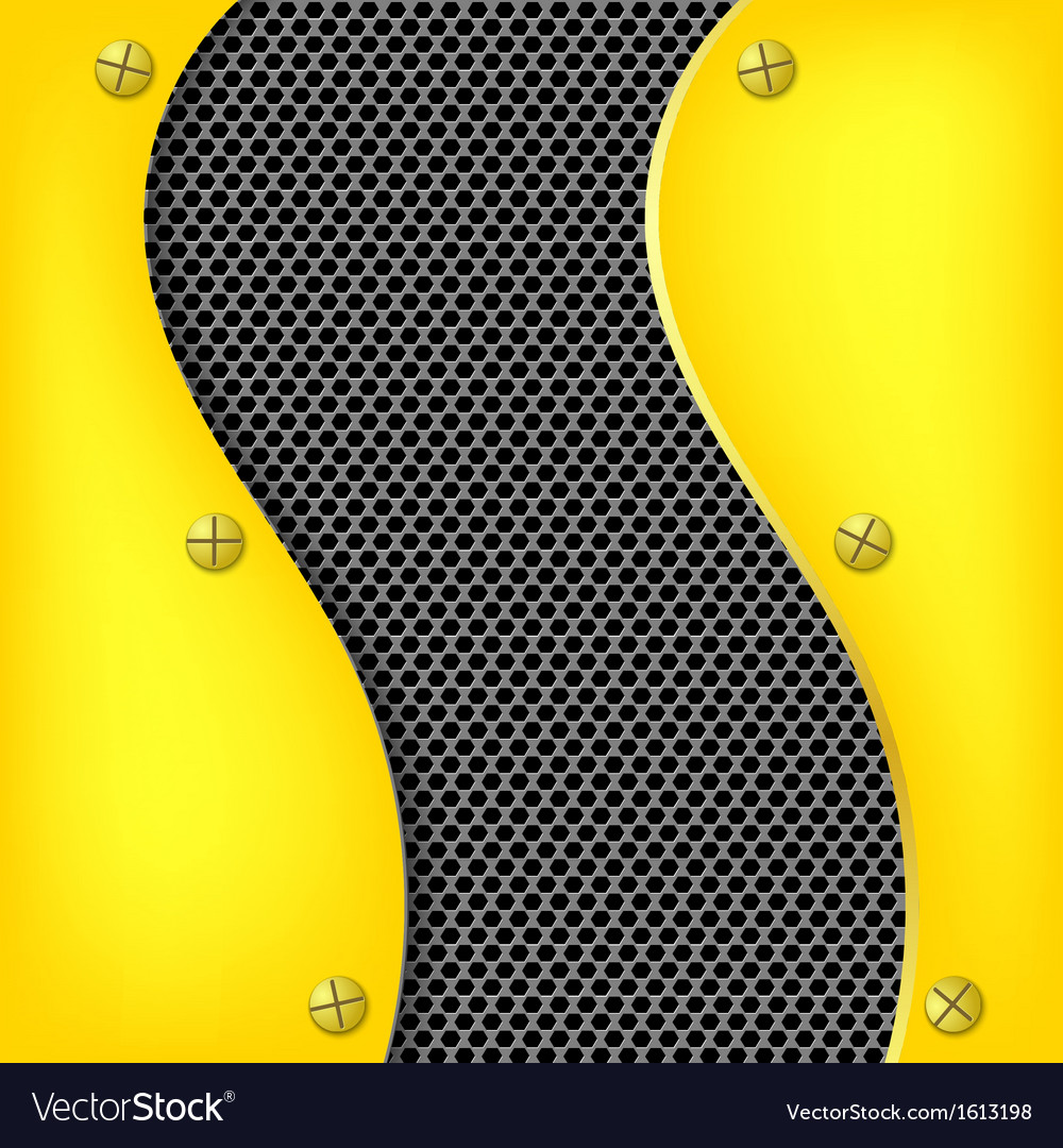 Abstract metallic yellow background vector | Price: 1 Credit (USD $1)