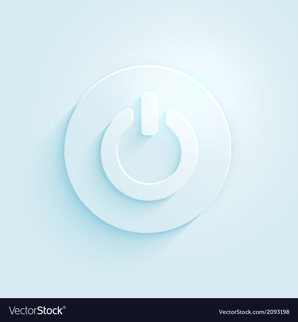 Abstract paper style power button icon switch off vector | Price: 1 Credit (USD $1)