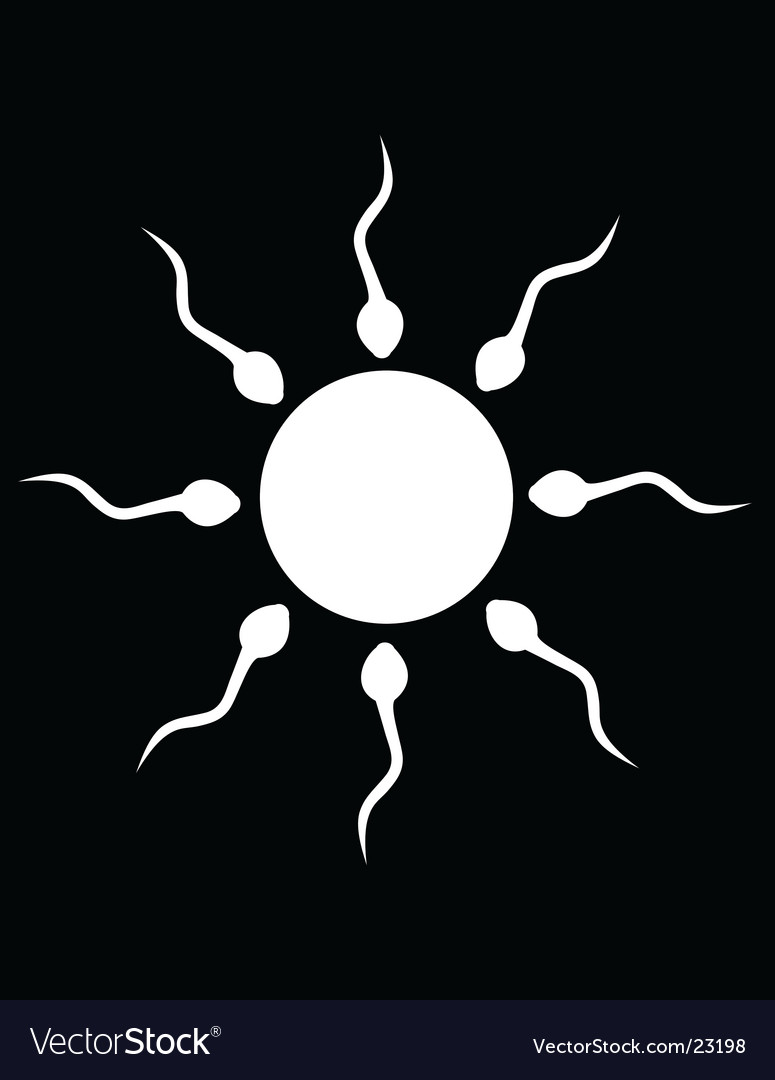 The black and white sperm vector | Price: 1 Credit (USD $1)