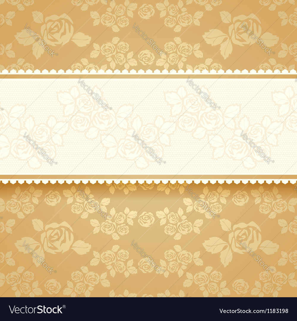 Golden roses with background square vector | Price: 1 Credit (USD $1)