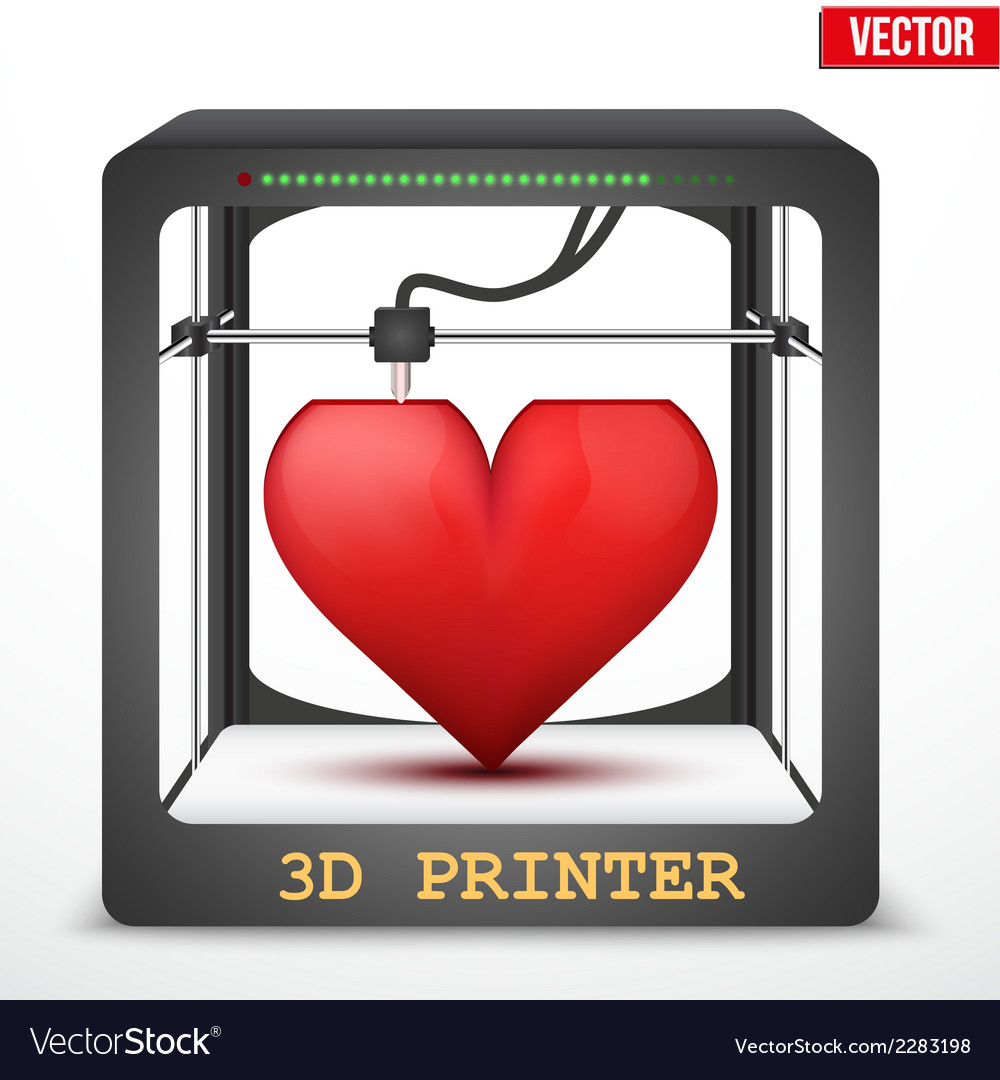 Heart transplant 3d printer for the internal vector | Price: 1 Credit (USD $1)