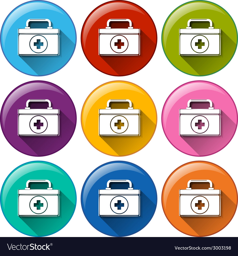Medical box icons vector | Price: 1 Credit (USD $1)