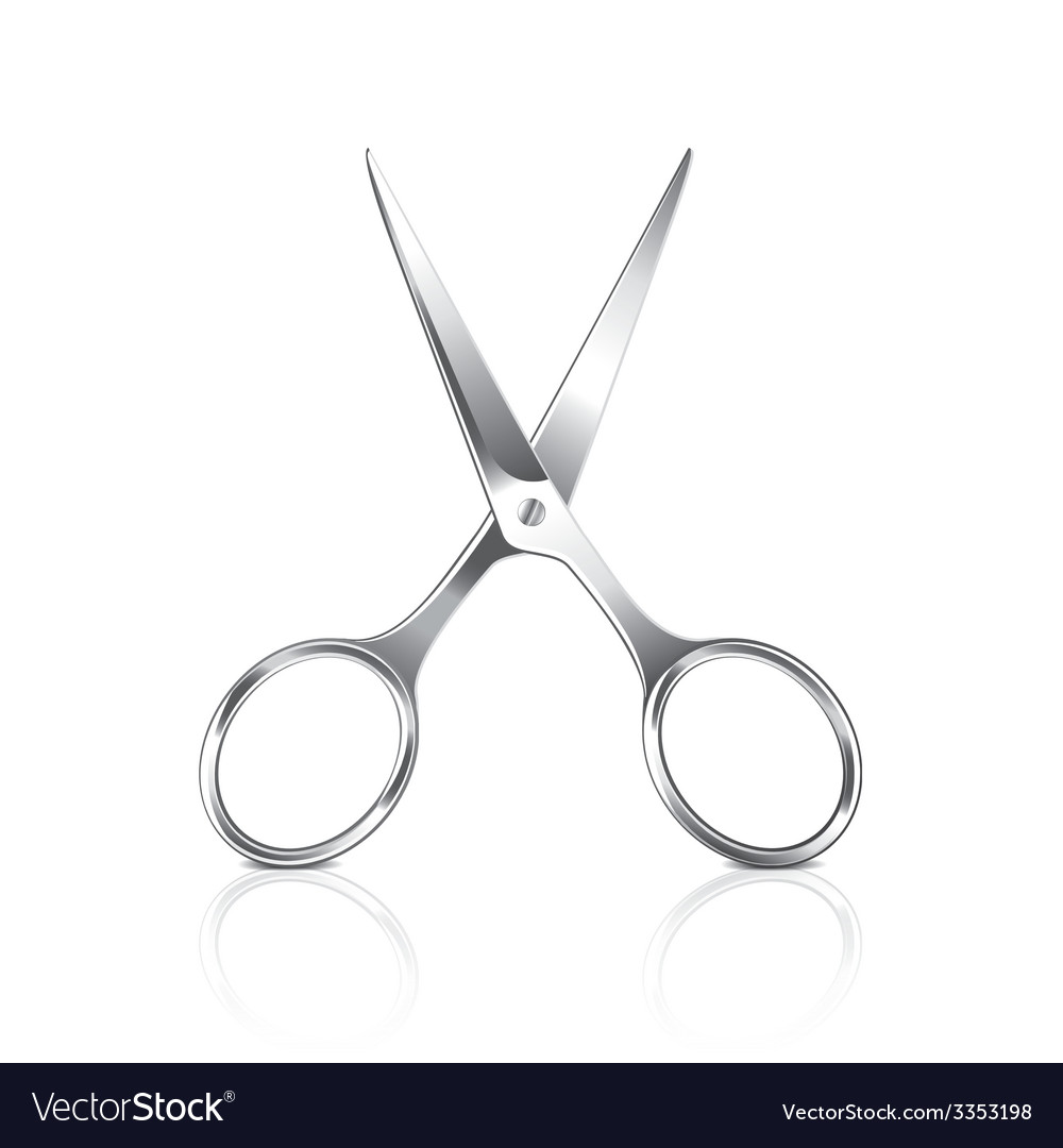 Metal scissors isolated vector | Price: 3 Credit (USD $3)